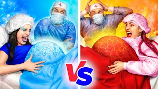 Hot Pregnant vs Cold Pregnant! Funny Pregnancy Situations