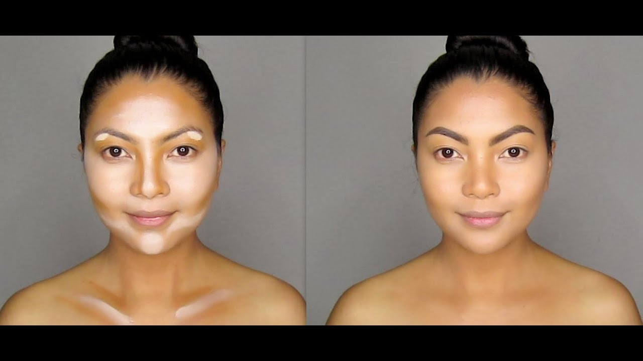 how to contouring and highlighting your face