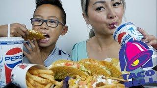 Taco Bell | Beef Crunchy Taco Supreme | MUKBANG | N.E Let's Eat