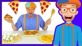 Funny Fun Pizza Song by Blippi | Foods for Kids