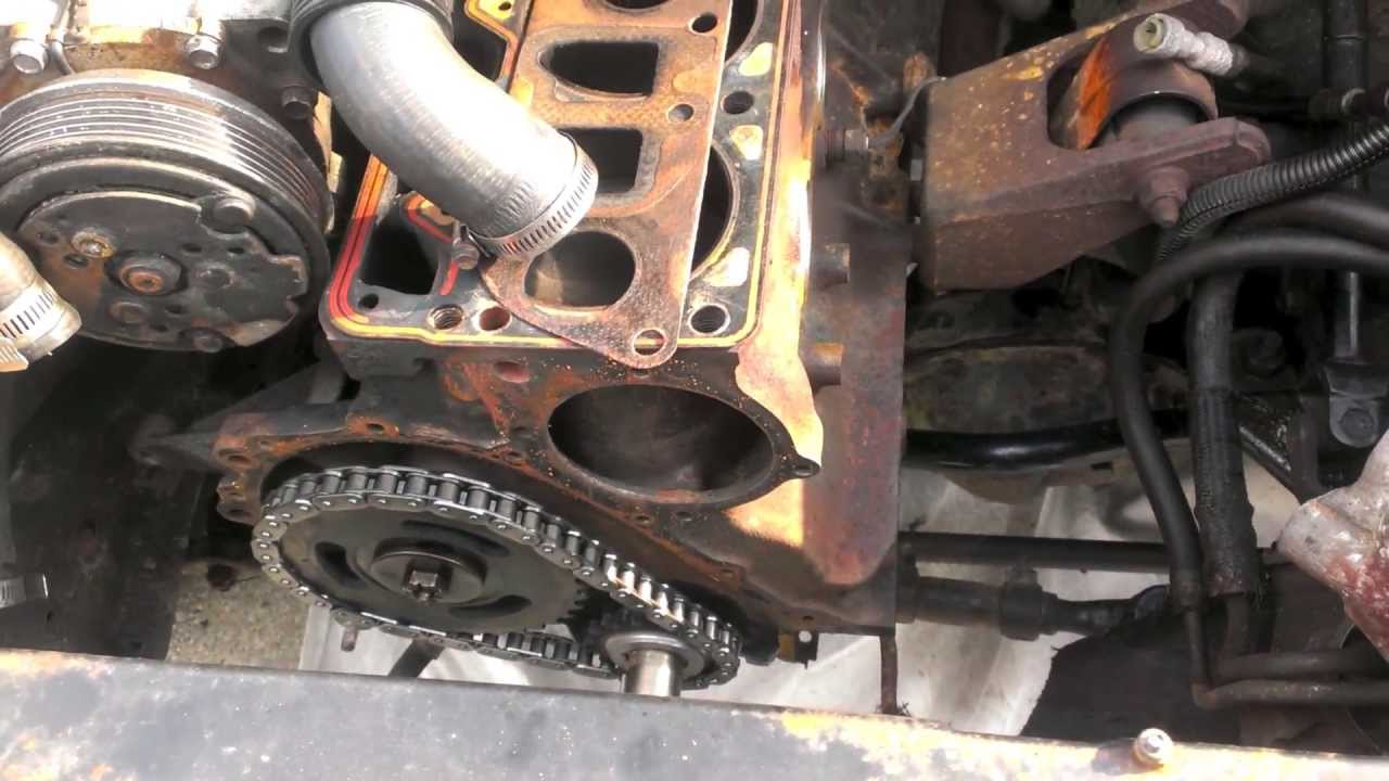 89 Cherokee Timing Set Amp Front Main Seal Install Youtube