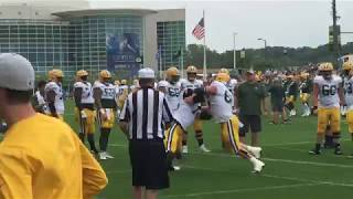 Green Bay Packers offensive line drills
