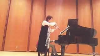 Megumi Matsumoto Violin 🎻 Violin Sonata No.1 by Gabriel Faure 2nd movement 💐 December.9 2018