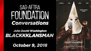 Conversations with John David Washington of BLACKKKLANSMAN