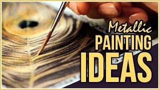 New to Metallic Watercolors? This Is What You Can Do! Art Journal Thursday