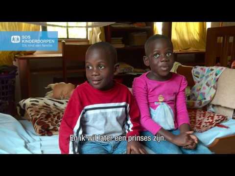Taamiti (3) en Sanyu (5) - SOS kinderdorp Entebbe, Oeganda