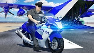 Police Airplane Moto Transport Bike - Android Gameplay HD | Police Games For Kids by Slash Studios - YouTube