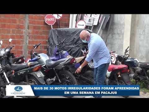 MAIS DE 30 MOTOS IRREGULARIDADES FORAM APREENDIDAS EM UMA SEMANA EM PACAJUS