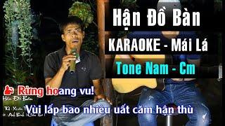 Karaoke Hận Đồ Bàn - Phiên Bản Guitar Bolero Mái Lá | Tone Nam | Beat Chuẩn Lão Nông Cần Thơ