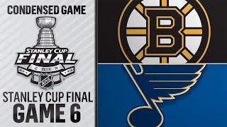 06/09/19 Cup Final, Gm6: Bruins @ Blues