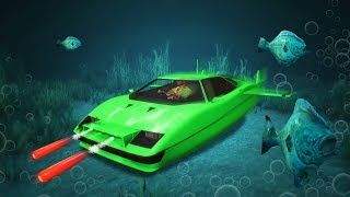 INSANE $4,950,000 SUBMARINE JAMES BOND CAR! (GTA 5 DLC)