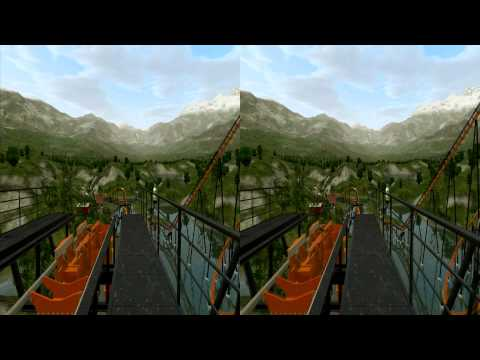 3D Rollercoaster: Lakefly (3D for PC/3D phones/3D TVs/Crossed Eyes)