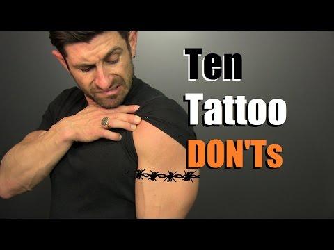 10 Tattoo DON'Ts!! How To Avoid STUPID Tattoos