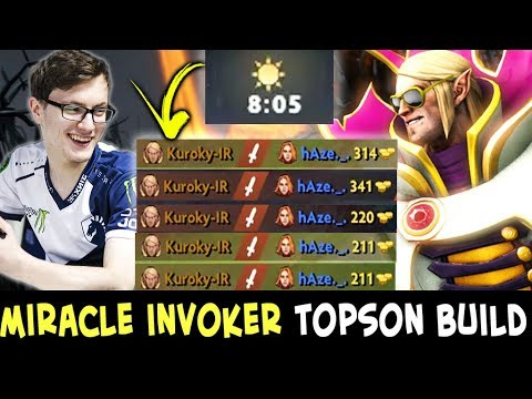Miracle INVOKER Topson BUILD — mid DESTROYED in 8 min