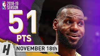 LeBron James EPIC Full Highlights Lakers vs Heat 2018.11.18 - 51 Pts, 3 Ast, 8 Rebounds!