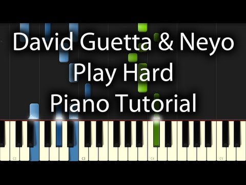 Baixar David Guetta - Play Hard feat. Ne-Yo & Akon Tutorial (How To Play on Piano) Work Hard