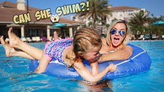 TODDLER ALMOST FALLS INTO THE DEEP END!!