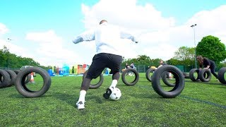 EPIC FOOTBALL ASSAULT COURSE CHALLENGE! 😱⚽💥