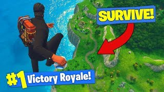 SURVIVING FALL FROM *MAX HEIGHT* In Fortnite Battle Royale!