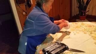 Making fresh pasta part 2..
