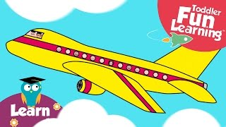 Let's Build a Plane | Plane video for toddlers | Toddler Fun Learning