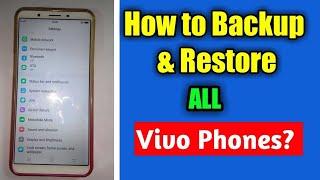 Vivo Y71, Y71i (1724,1801) Hard Reset, Phone Unlock, Pattern