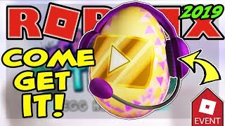 🔴 ROBLOX LIVE 🔴 LAUNCHING THE VIDEO STAR EGG | EGG HUNT 2019 SCRAMBLED IN TIME