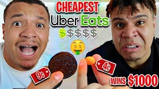 Whoever Orders The CHEAPEST Item On UBER Eats - Wins $1,000 (FT WOLFIE)