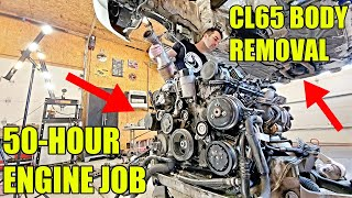 I Was Quoted $10,000 To Fix The Twin-Turbo V12 Engine In My CL65 AMG So I'm Doing It Myself At Home!