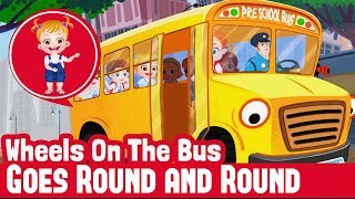 Nursery Rhymes | Wheels On The Bus Goes Round and Round kids Kinder Garden Song