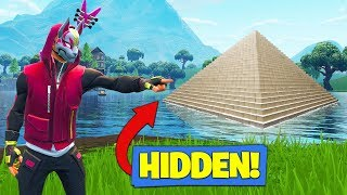 There is a *SECRET* PYRAMID Under Loot Lake - In Fortnite Battle Royale!