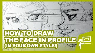 HOW TO DRAW THE FACE IN PROFILE   Tutorial   DrawingWiffWaffles