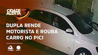 Dupla rende motorista e rouba carro no Pici