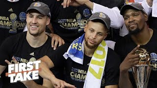 Klay Thompson is tired of getting Steph and KD's 'crumbs' - Stephen A. | First Take