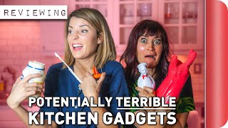 Reviewing Potentially TERRIBLE Kitchen Gadgets Ft. Grace Helbig & Mamrie Hart