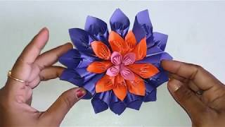 "How to make ""Kusudama style paper flower"" step by step"