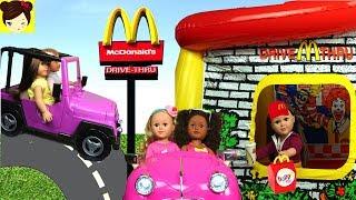 Mcdonald's Thru Casita Con Drive Inflable Jugando BarbieElsa Moana wPk0NXnO8Z