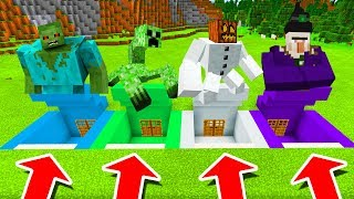 Minecraft PE : DO NOT CHOOSE THE WRONG SECRET BASE! (Mutant Zombie, Mutant Creeper, Witch & MORE)