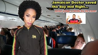 Jamaican doctor saves a life on American Airlines