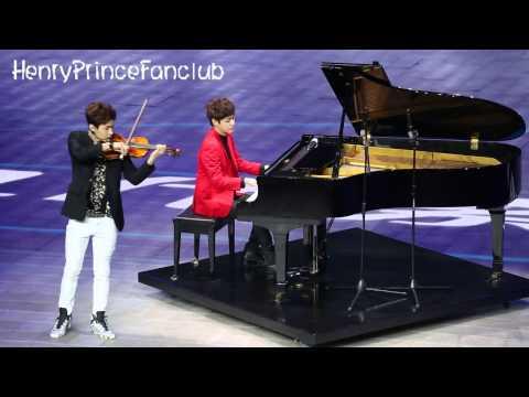 "150320 henry& Jiho 2 ""the launch of Hyundai Sonata""(by HenryPrinceFanclub)"