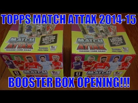 YouTube PREMIERE ☆ UNBOXING BOOSTER BOX (500 CARDS!) ☆ topps MATCH ATTAX 2014/15 Trading Cards