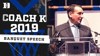 Coach K 2018-19 Season Review | 2019 Duke Basketball Banquet