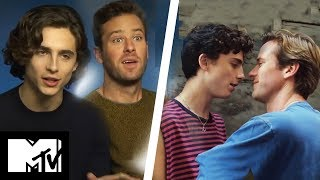 Call Me By Your Name Stars Armie Hammer & Timothée Chalamet Want To Win Best Kiss | MTV Movies