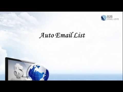 Auto Email List - Automotive Email List - B2B Email Listz