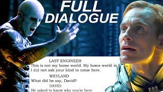 Deleted Engineer Dialogue FULLY TRANSLATED from the Script of Prometheus