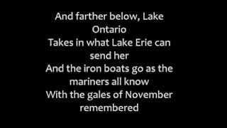 Gordon Lightfoot - The Wreck of the Edmund Fitzgerald (Lyrics)