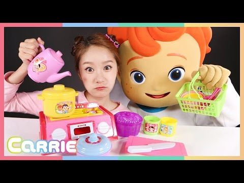 캐리와 꼬마캐빈의 캐리 바구니 소꿉놀이 장난감 놀이 CarrieAndToys