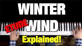 CHOPIN - ETUDE OP 25 NO 11 - PIANO TUTORIAL (WINTER WIND)