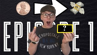 The Penny To 1,000 Dollars Challenge! - Turning $0.01 into $1,000! - Episode 1