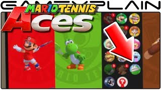 NEW Character Revealed in Mario Tennis Aces + Character Select Screen Revealed!